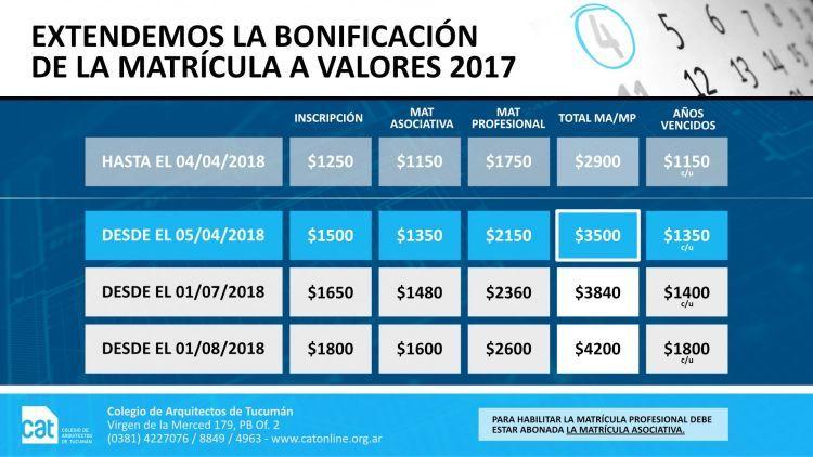 MATRICULA_BONIFICADA